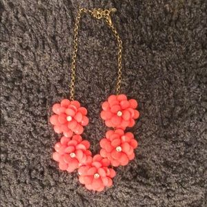 Crew hot pink floral necklace